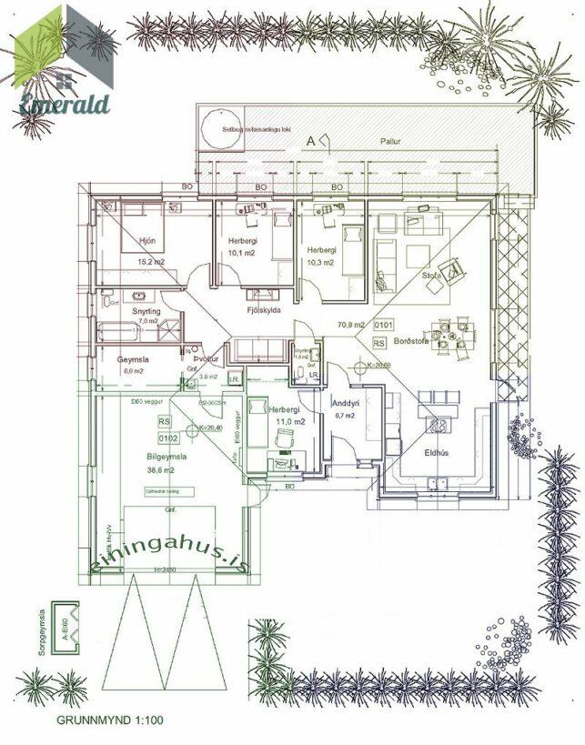 Emerald Akureyri Einingahús